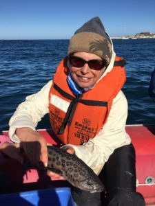 Cuddling a Leopard Shark
